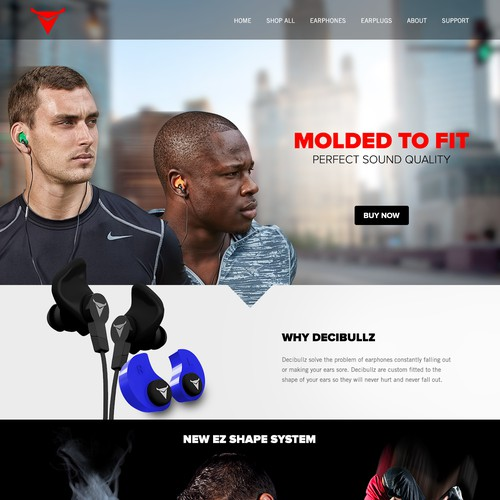 Decibullz Earphone Website Design