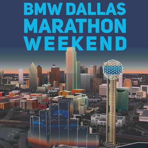 Vintage Poster for BMW Dallas Marathon