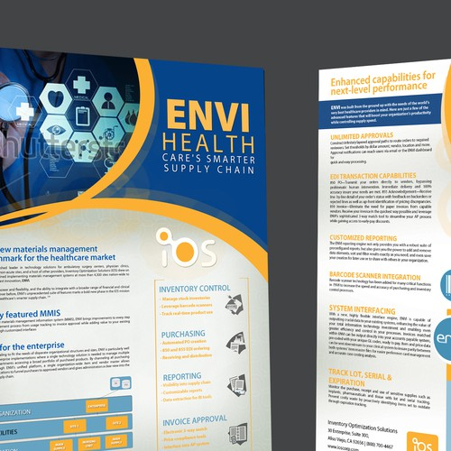 Create a visually appealing brochure (all text provided)