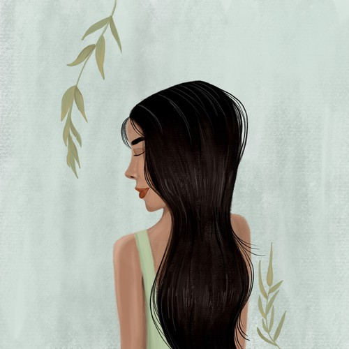 Haircut illustration for a beauty app