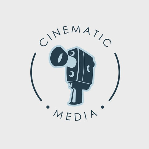 Vintage logo for video company.