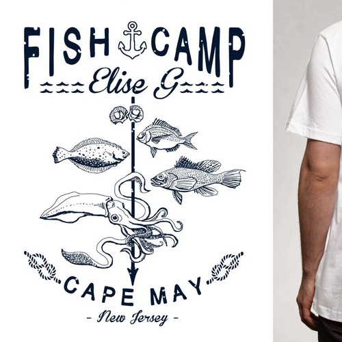 FISHERMAN CREW T-shirt Design