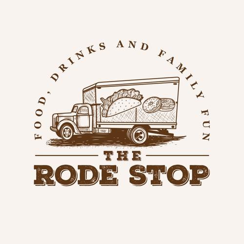 Vintage Truck Logo for food truck lot.