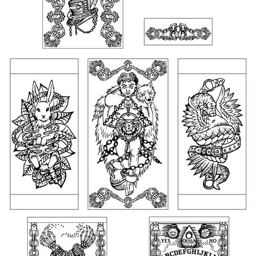 Houdini-inspired engraving