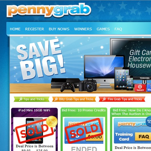 PennyGrab needs a new banner ad