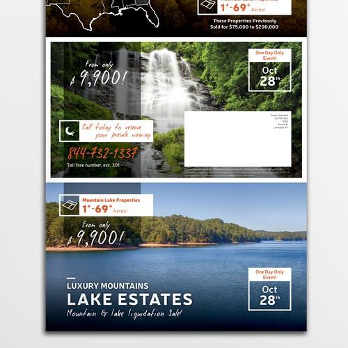 Trifold flyer for lake estates sale