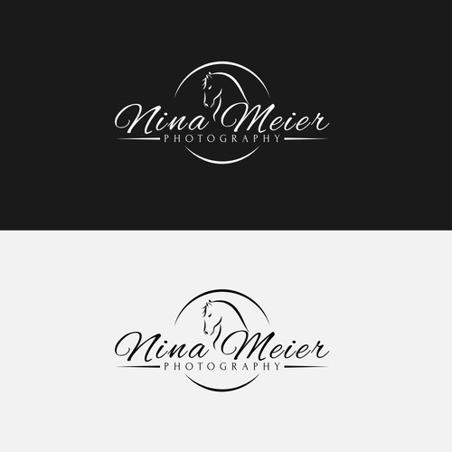 Logo concept for horse photographer