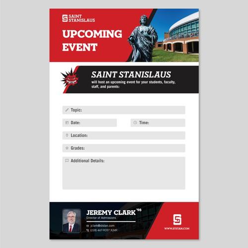 Form for Saint Stanislaus School