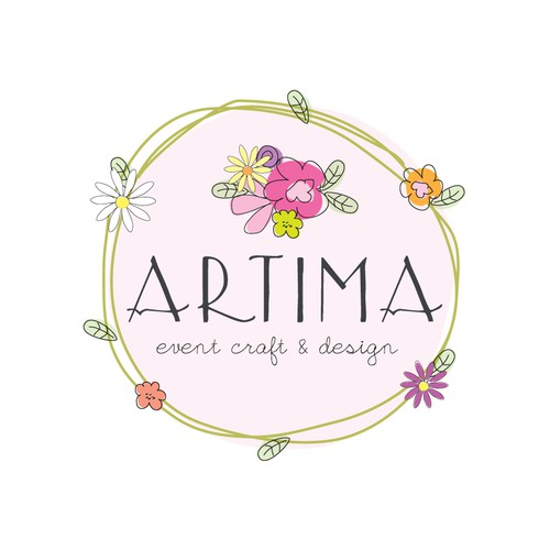 Help me come up with an eclectic, whimsical, hand-drawn, bomemian logo for my flower shop!!