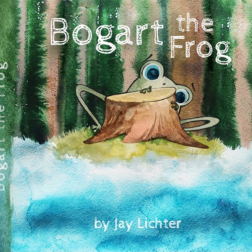 Children's Picture Book Cover for Bogart the Frog