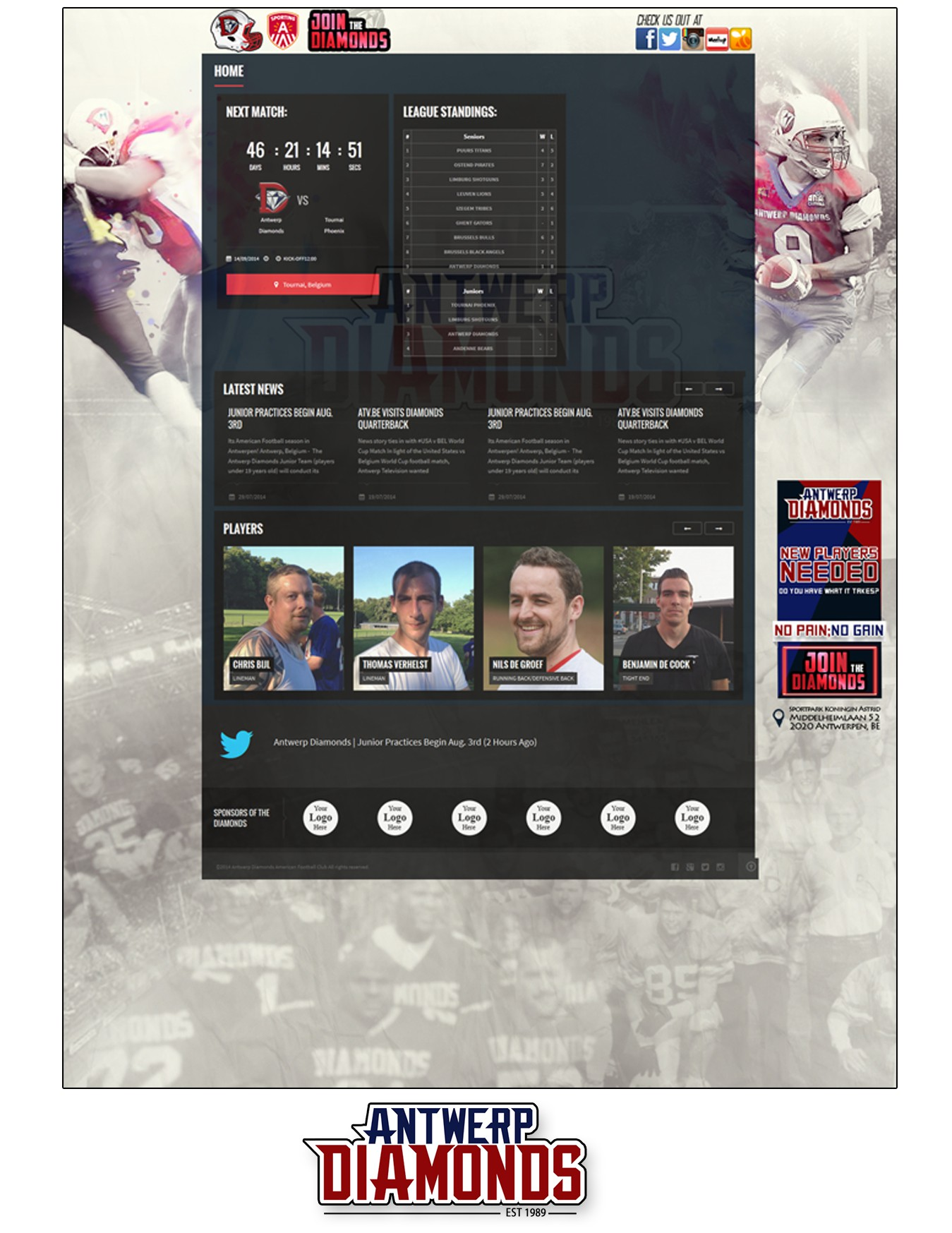 Cover Images for American Football team in Belgium!