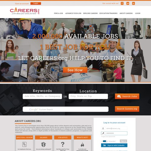 Careers.org Website Redesign