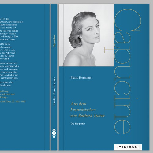 modern classic design for a biography of an actress with delicate typography