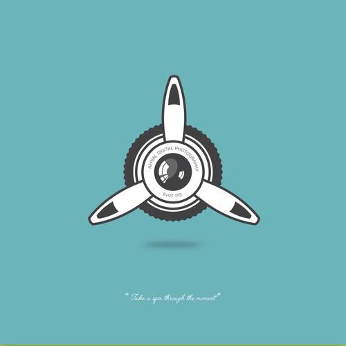 Retro Logo Design For Aerial Digital Photography