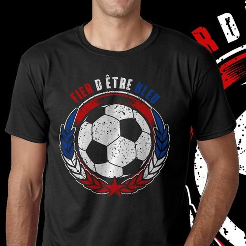 Créer un design T.shirt coupe du monde football 2018