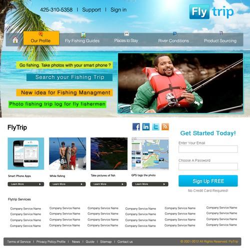 Create the next website design for FlyTrip