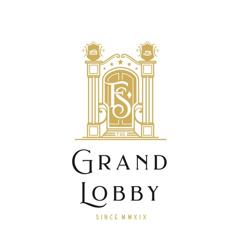art-deco logo style for grand hotel