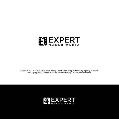 EXPERT MAKER MEDIA logo design