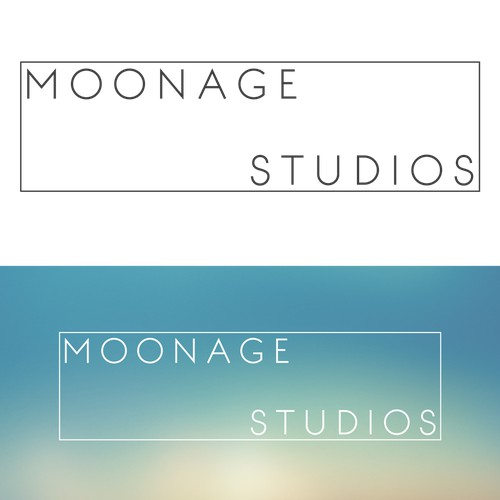 Create a minimalist logo for Moonage studios