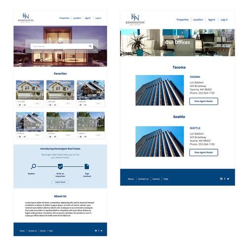 Real Estate Website Design Concept