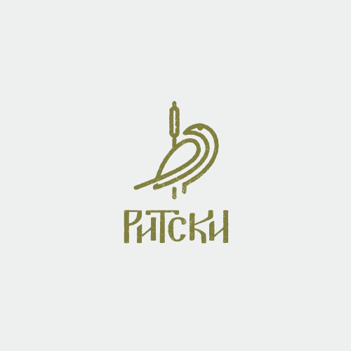 Lineart logo with custom typography
