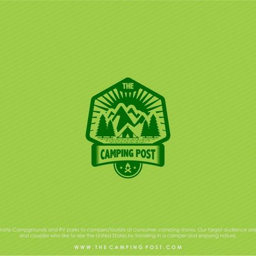Create logo and webpage for The Camping Post