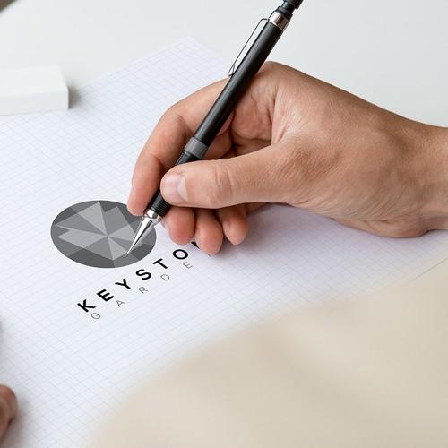 Polygonal design based logo