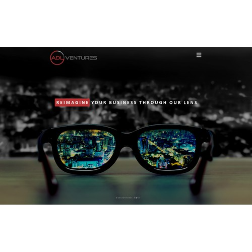 Modern style webpage design