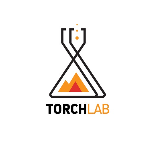 Torch labs logo concept.