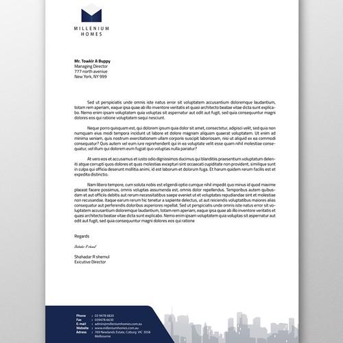 letterhead for millenium homes