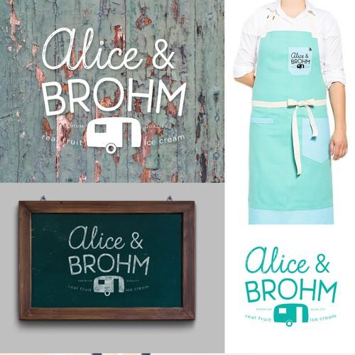 Alice & Brohm Ice Cream Logo