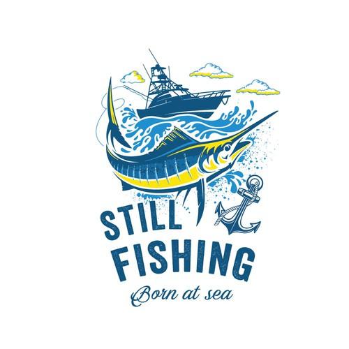 T-shirt still fishing