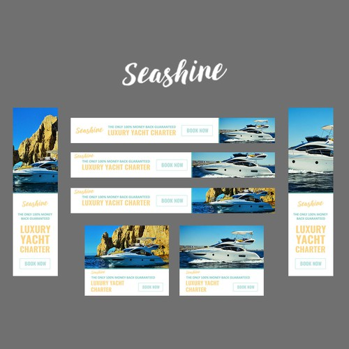 Banner about private yacht charter