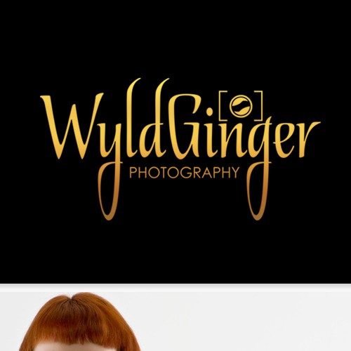 Create the next logo and business card for WyldGinger Photography