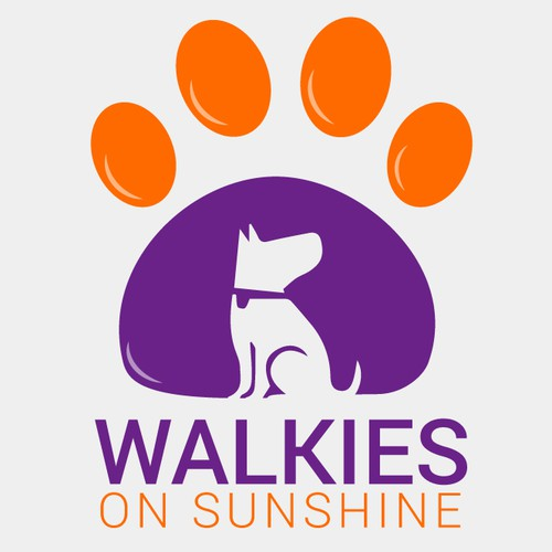 Walkies on sunshine logo design