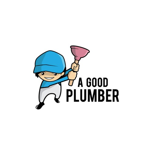 Logo entry for a good plumber logo contest.
