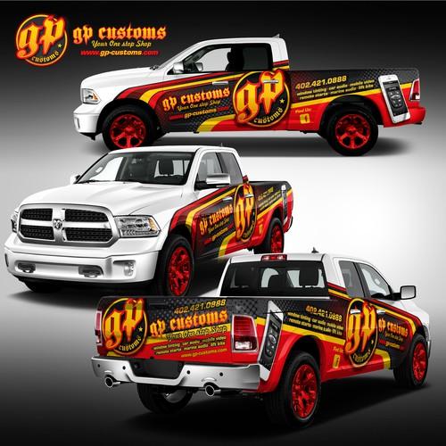 Truck wrap GP CUSTOMS