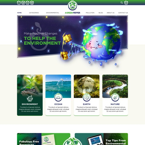 Green Blog needs a Quirky Wordpress Theme