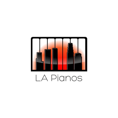 modern logo for a piano store contest entry
