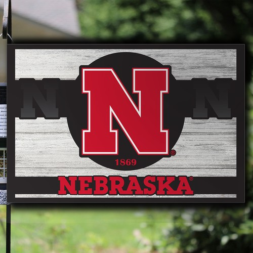 Bold Garden Sign Design for College and Sports Team