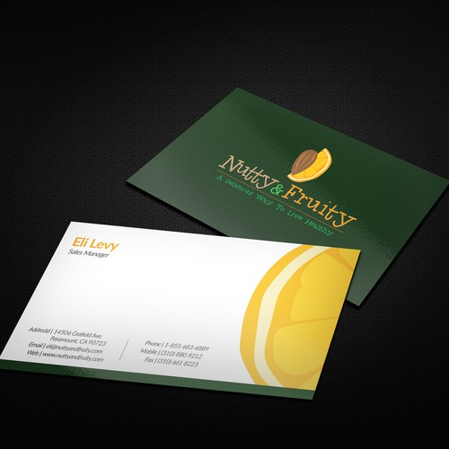 Business card for Nutty And Fruity