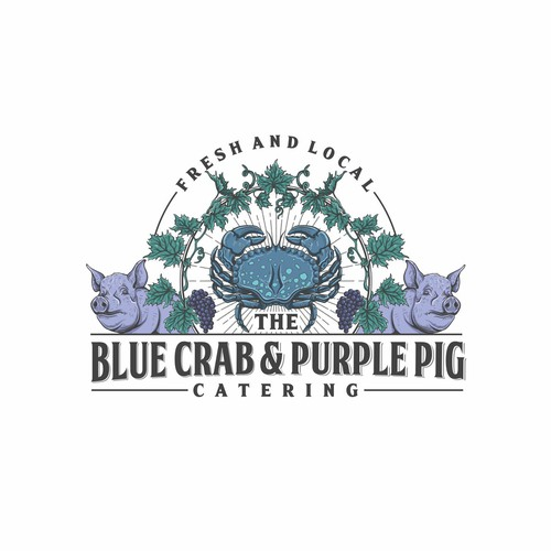 the Blue Crab and Purple Pig Catering