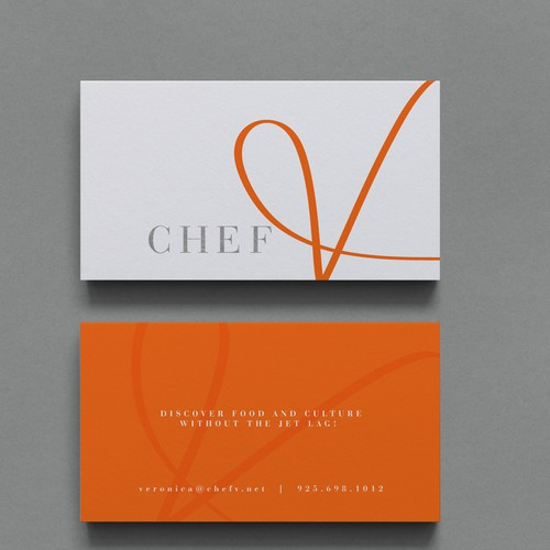Hand drawn logo for a chef