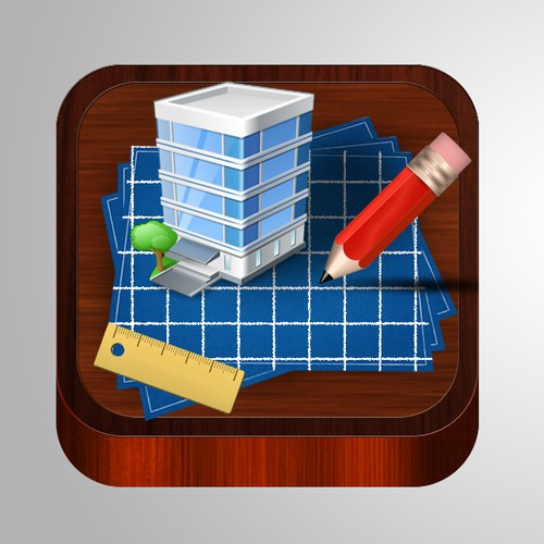Architectural design app icon