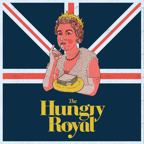 Illustrations of the Queen for The hungry royal