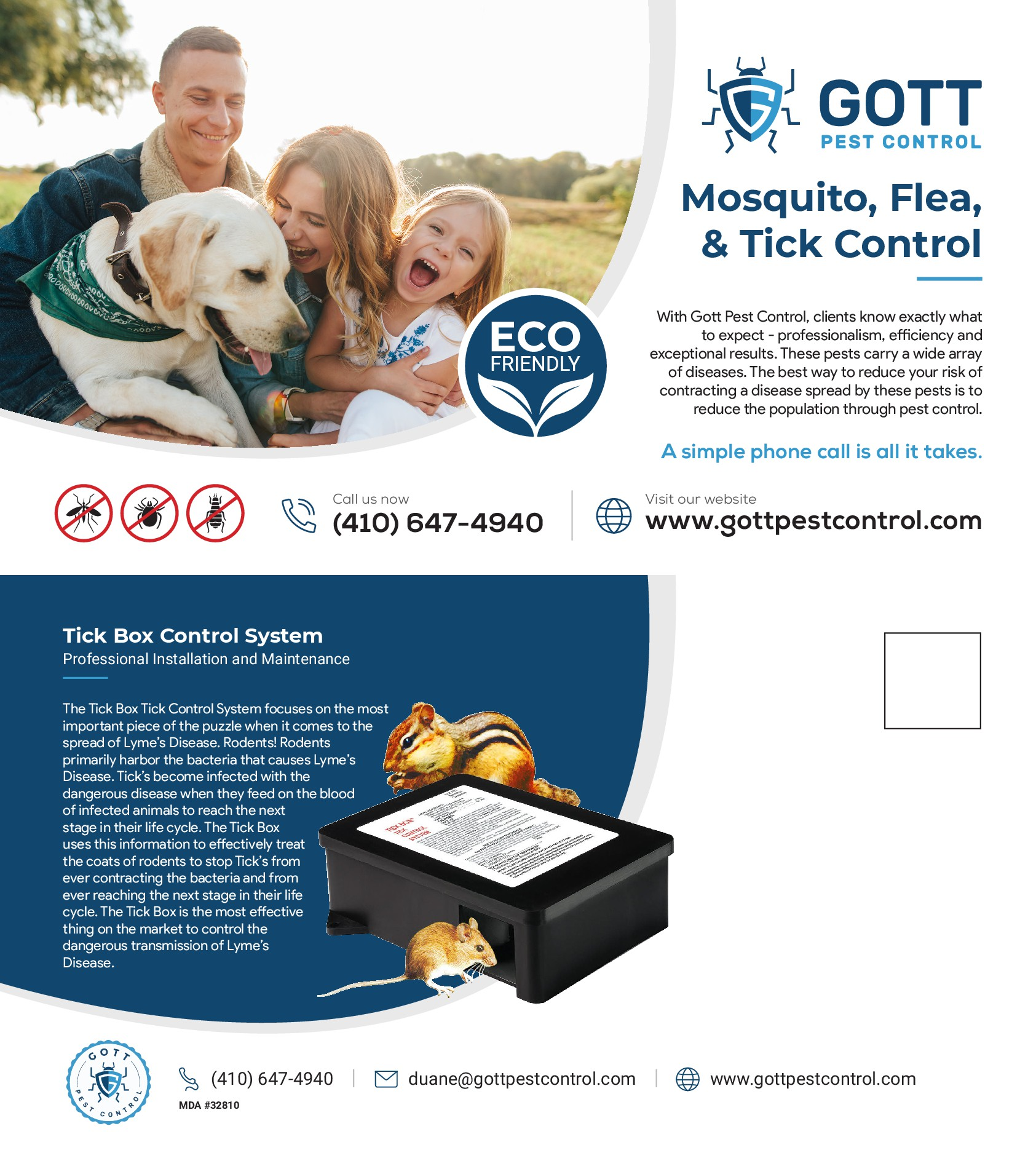Mosquito/Tick Control Advertisement