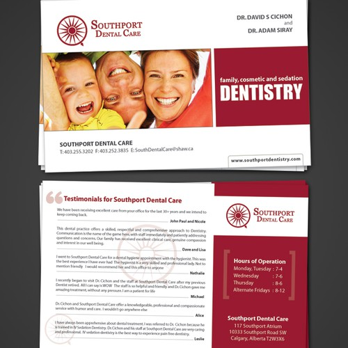 Dental Care Post Card Design