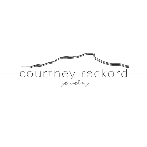 Topography Logo for Courtney Reckord Jewelry