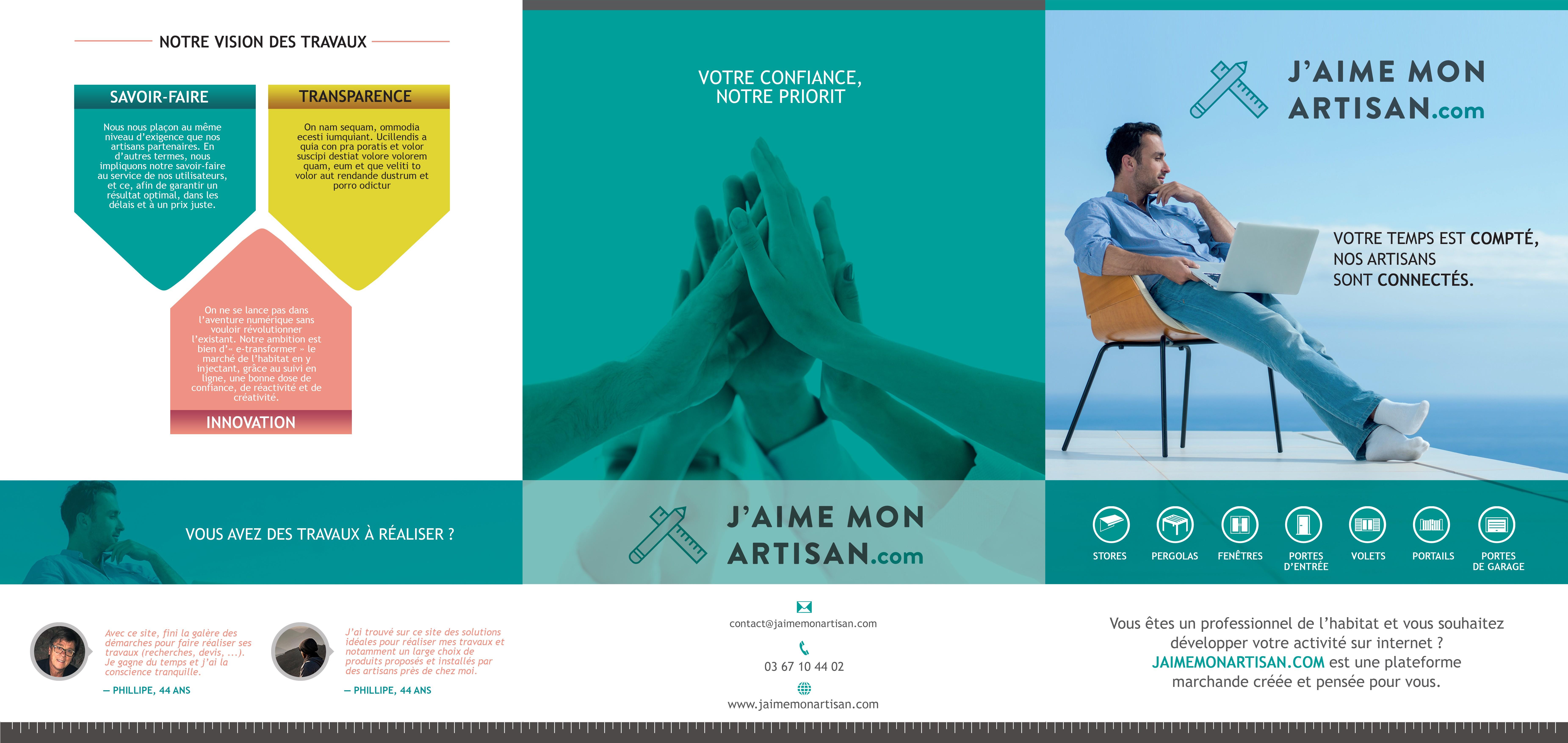 Your creativity for Our commercial brochure | JaimeMonArtisan.com