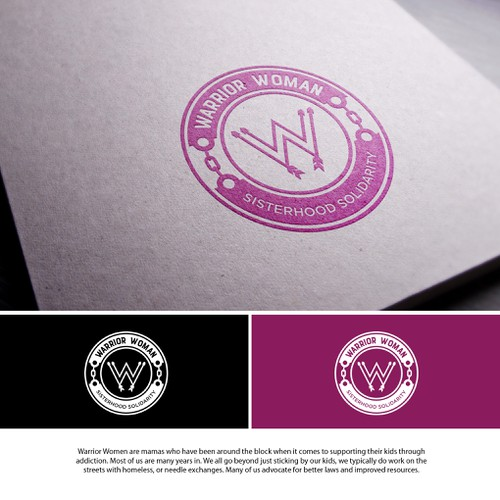 Feminine and Strong logo concept for Warrior Woman